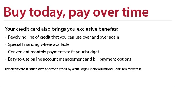 Buy Now, Pay Later With Special Financing